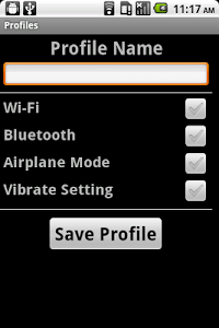 Settings Profiles screenshot 1