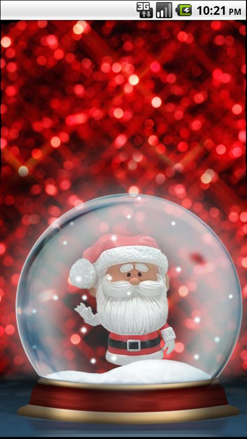Santa Bobble Live Wallpaper - screenshot