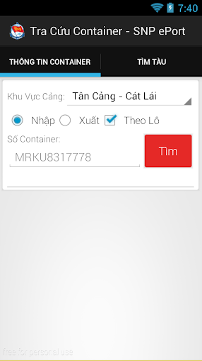 Tra cuu Container Cang Cat Lai