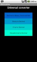 Screenshot of Binary Octal Hex Converter