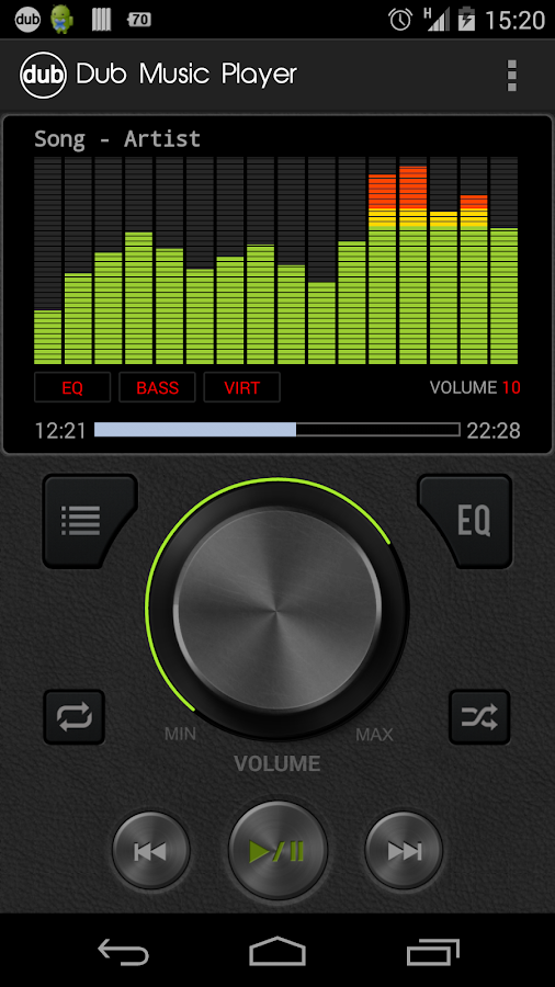 Dub Music Player + Equalizer - screenshot