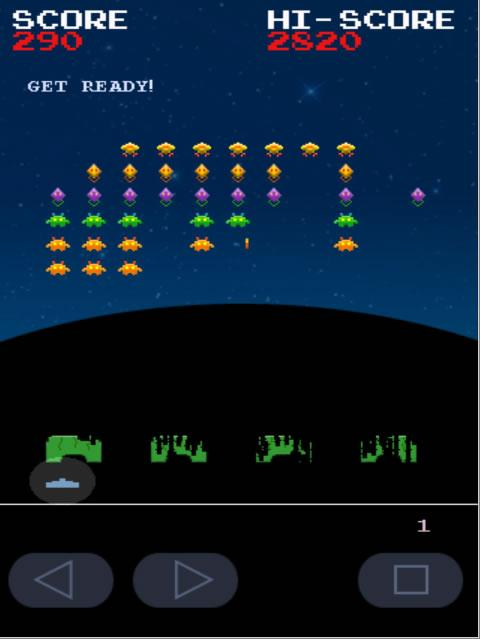 Invaders from Androidia- screenshot