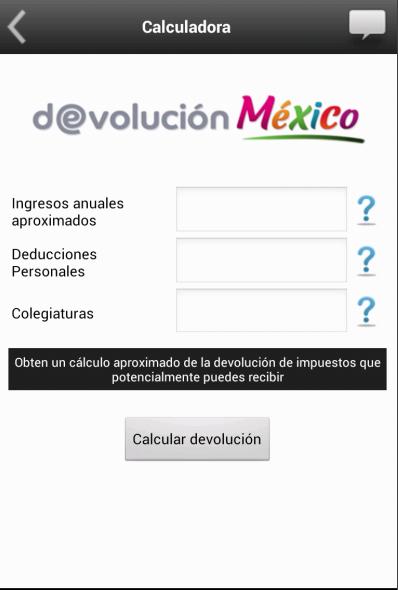 Devolución México - screenshot
