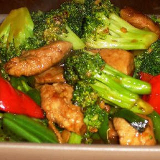Stir Fry with Pork and Veggies.
