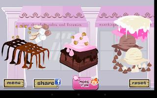 Screenshot of Fudge Brownie Dressup Game