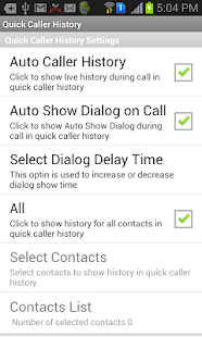 Quick Caller History- screenshot thumbnail