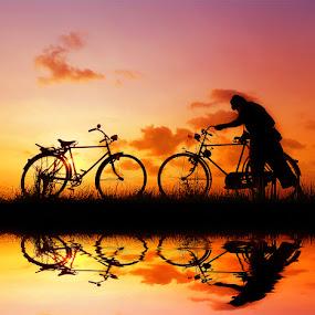 pak jambul nuntun pit by Indra Prihantoro - Transportation Bicycles
