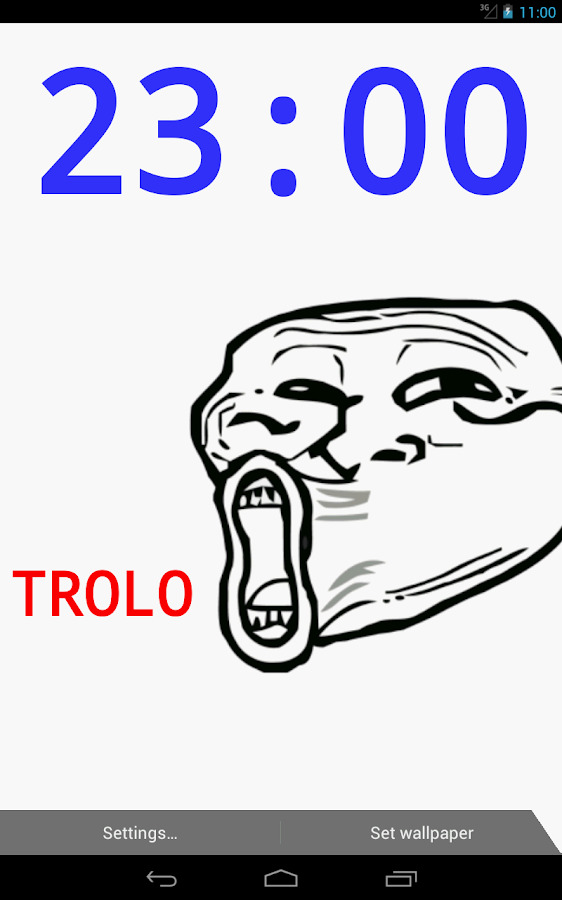 Troll Face Live Wallpaper - screenshot