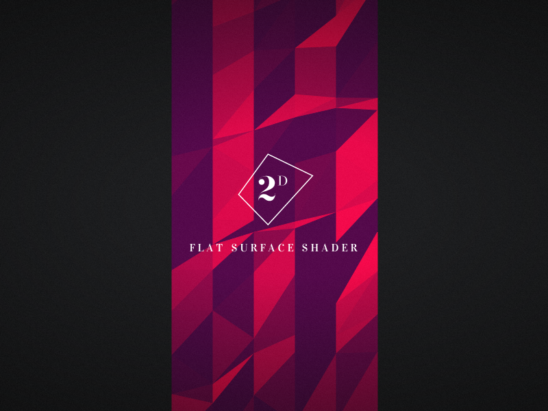 Flat Surface Shader by Matthew Wagerfield | Experiments with
