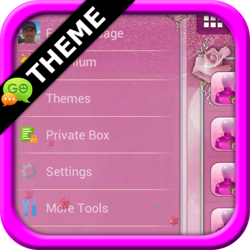 Pink Roses GO SMS Theme