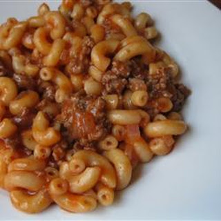 Beef and Tomato Macaroni Recipe