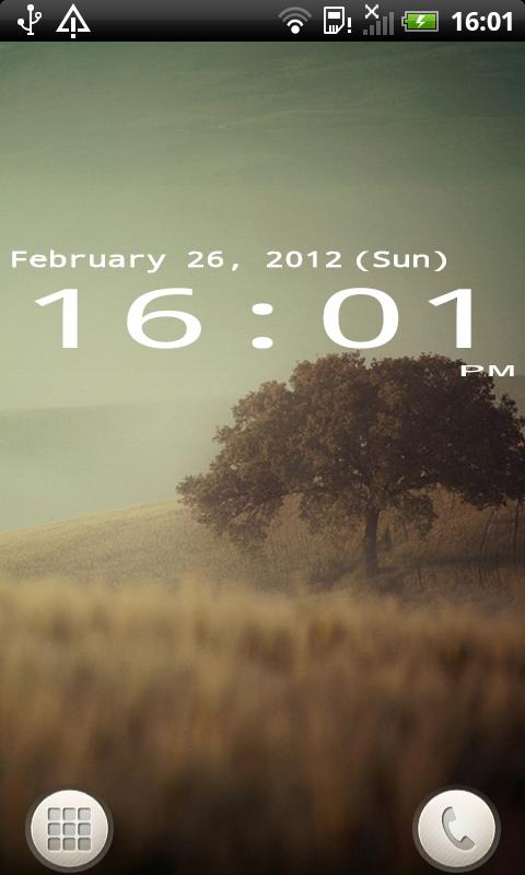 Mono Clock Widget - screenshot
