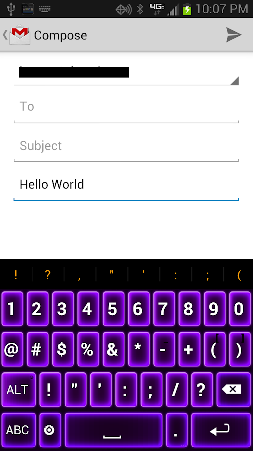 Neon Purple Keyboard - screenshot