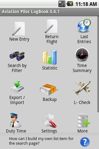 Aviation Pilot LogBook- screenshot