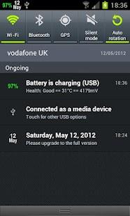 Calendar Status Bar- screenshot thumbnail