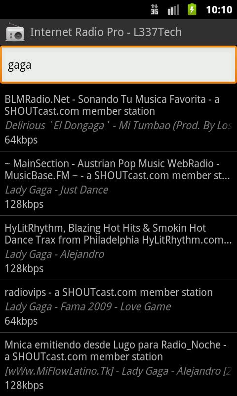 Internet Radio Pro - L337Tech - screenshot