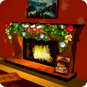 3D Christmas Fireplace HQ Full icon