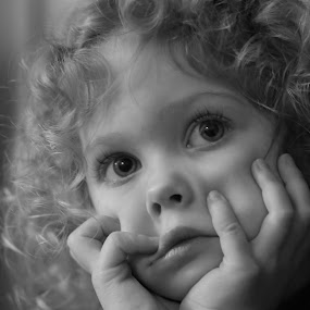 by Tim Davies - Black & White Portraits & People ( , Innocence, Love, Life, People, black and white, b&w, child, portrait )