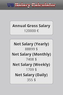 US Salary Calculator - screenshot thumbnail