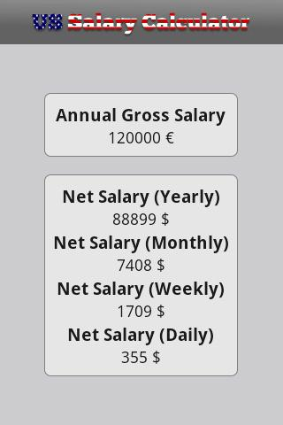 US Salary Calculator - screenshot