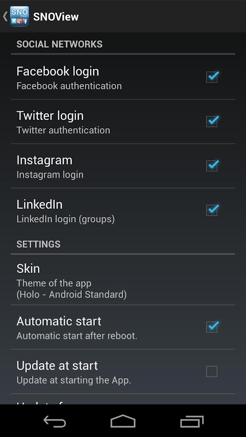 Social Network OverView Lite - screenshot