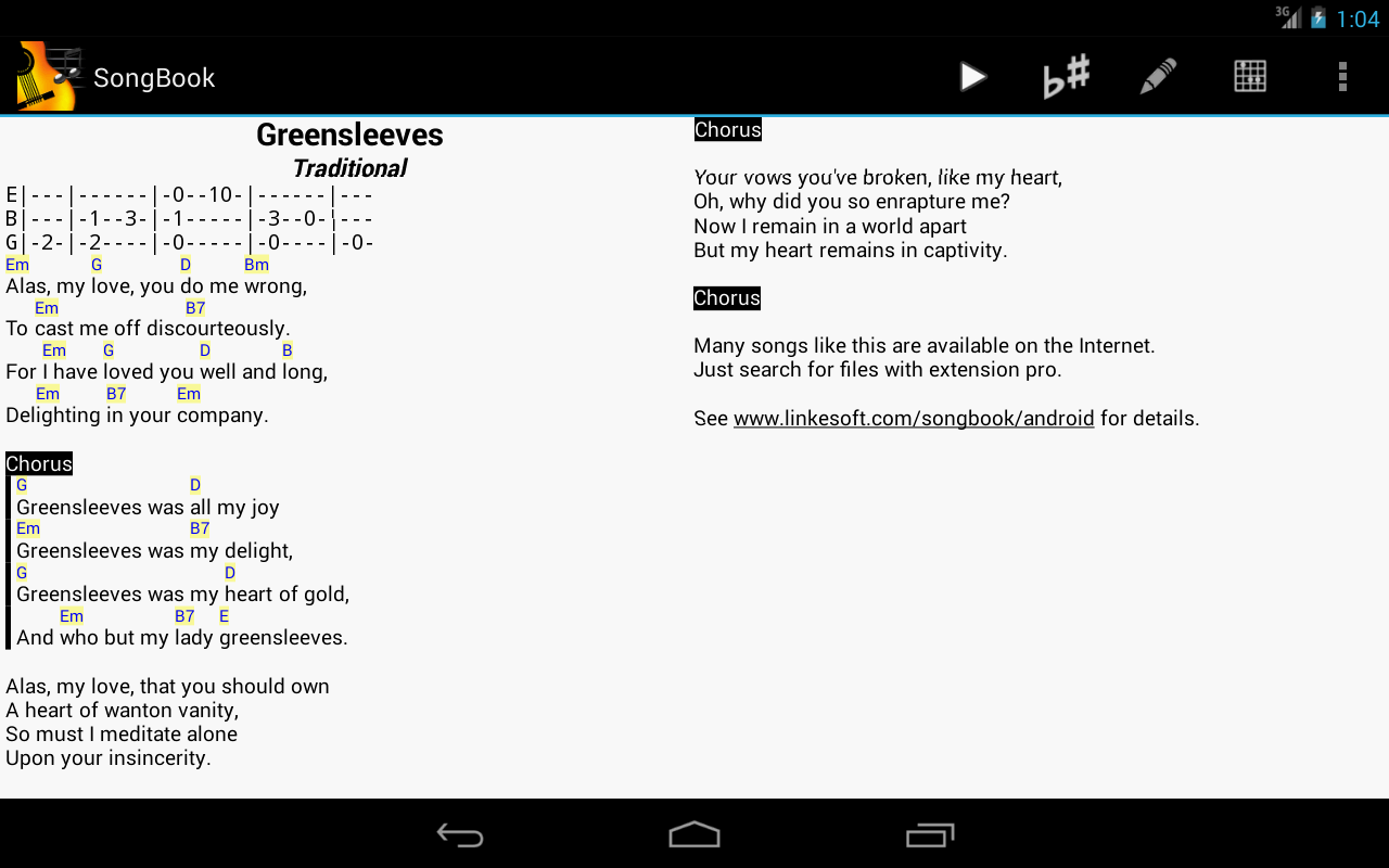 SongBook - screenshot