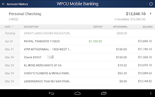 Screenshot of WPCU Mobile Banking