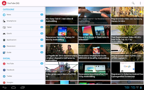 AndroidBlog - screenshot thumbnail