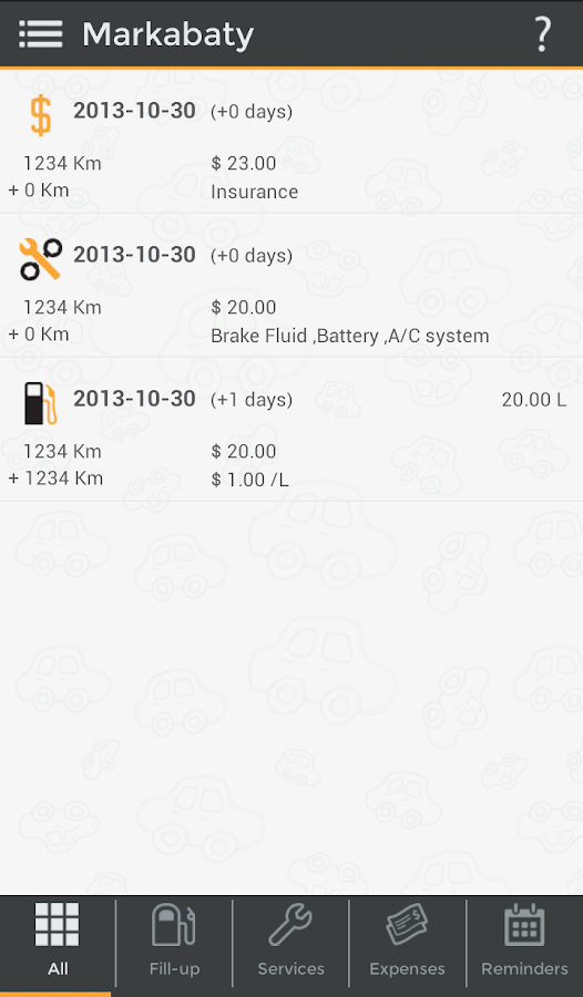 Markabaty - Car Management- screenshot
