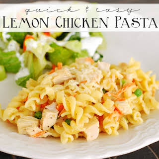 Quick and Easy Lemon Chicken Pasta.