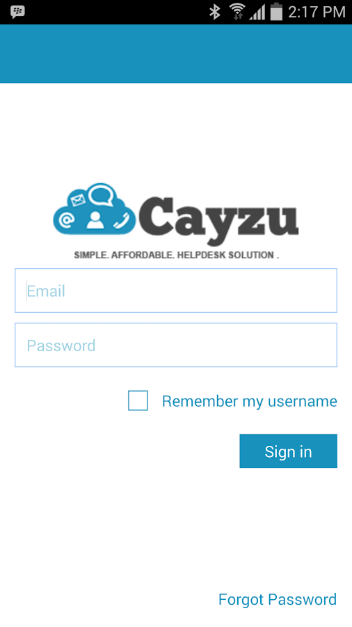 Cayzu Help Desk- screenshot