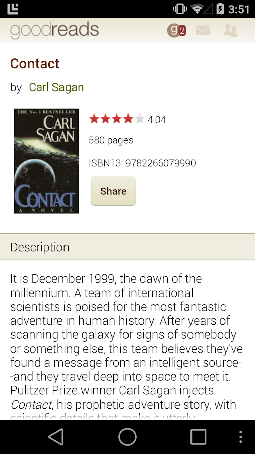 Goodreads - screenshot