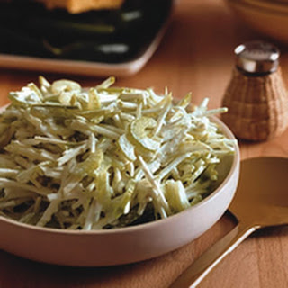 Apple and Celery Slaw with Blue Cheese Dressing.