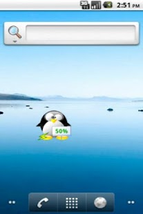 Mini Tux Battery Widget Free - screenshot thumbnail