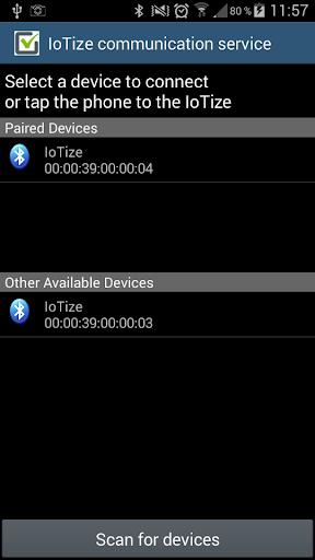 IoTize™ communication service