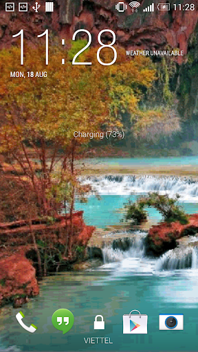 Autumn Waterfall LWP