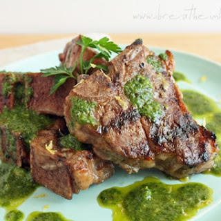 Grilled Lamb Chops with Charmoula (Low Carb, Gluten Free & Whole 30).