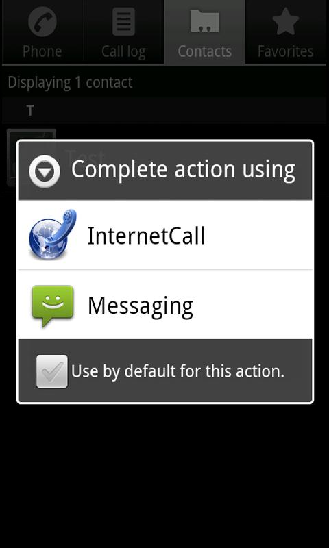 Phone2Phone Internet Calling - screenshot
