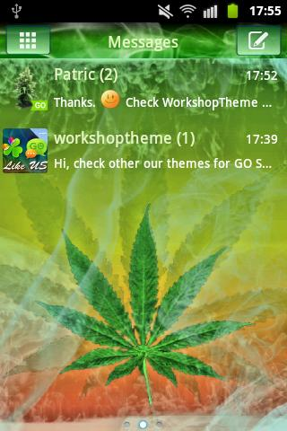 GO SMS Pro Theme Ganja Weed - screenshot