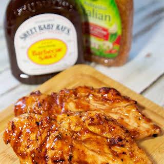 Three Ingredient Italian BBQ Chicken.