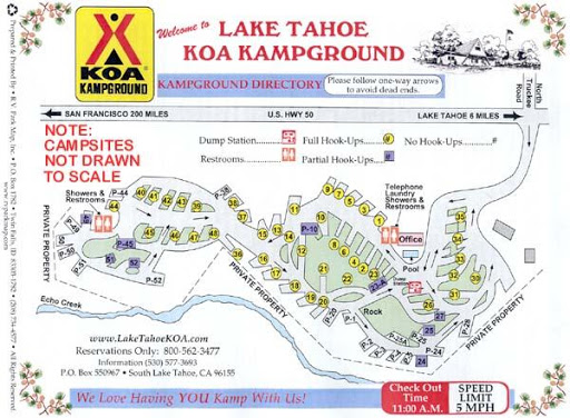 Lake Tahoe KOA RV Parky - Koa us map