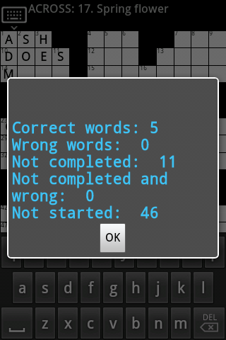 Crossword  Puzzle (US) game - screenshot