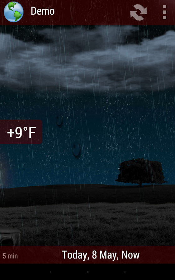 Animated Weather Widget, Clock - screenshot