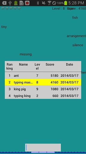 玩免費拼字APP|下載英文打字练习 - 酸雨 app不用錢|硬是要APP