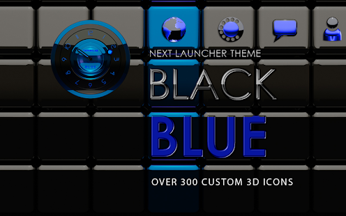 Next Launcher Theme black blue