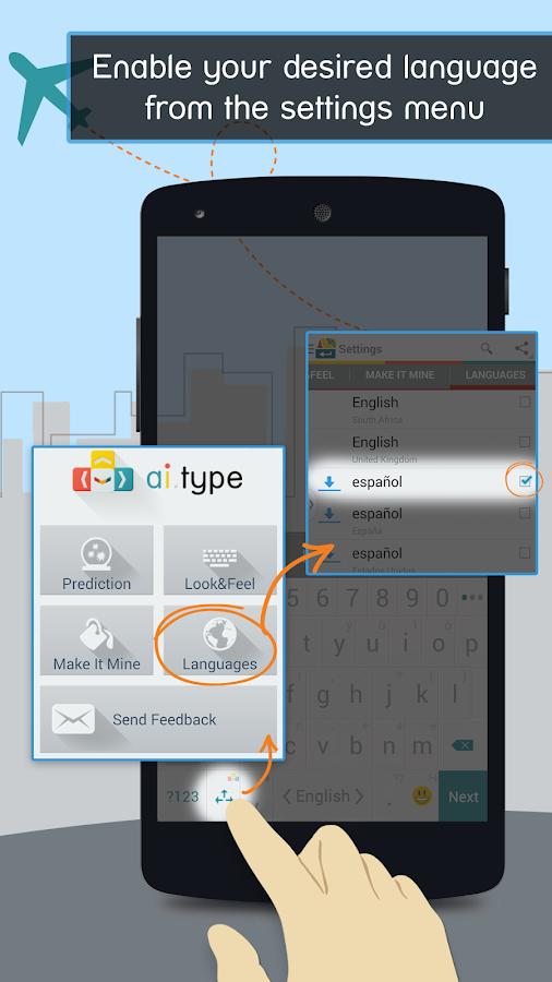 Spanish for ai.type Keyboard - screenshot