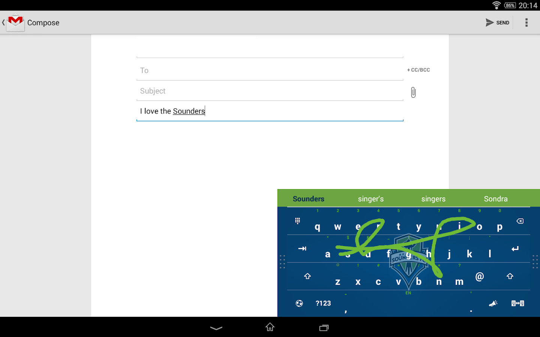 Swype Keyboard - screenshot