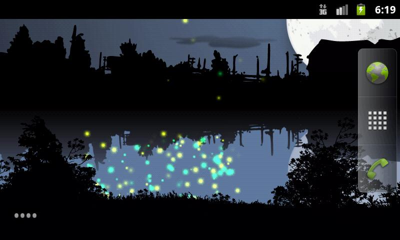 Fireflies Free Live Wallpaper - screenshot