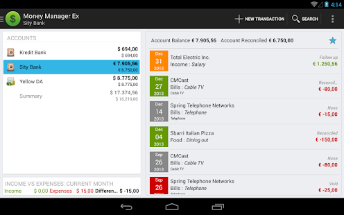 Money Manager Ex for Android- screenshot thumbnail