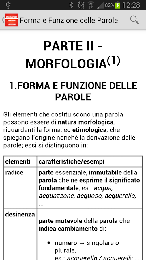 Grammatica Italiana- screenshot
